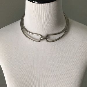 NWOT Silver choker necklace